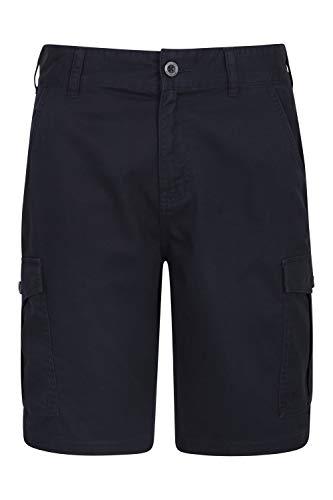 Mountain Warehouse Pantalón Corto Lakeside para Hombre - Pantalón Corto Tipo Cargo Resistente en Sarga de algodón 100%, 6 Bolsillos - para Caminar, Correr
