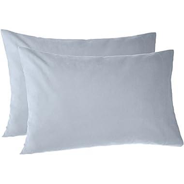 Pinzon 170 Gram Flannel Pillowcases - King, Dusty Blue