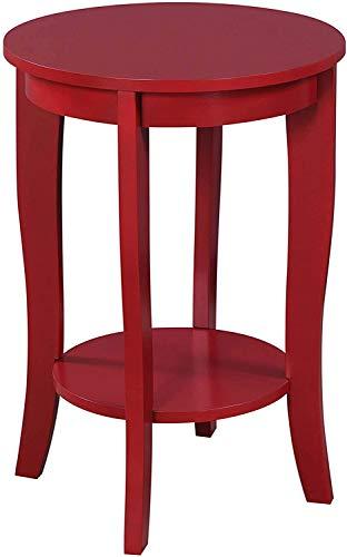 Convenience Concepts 7106259CR American Heritage Mesa de Extremo Redondo, Color Rojo arándano