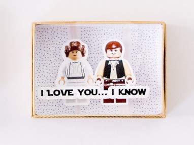 Star Wars regalo aniversario Tarjeta San Valentín hombre Día de los Enamorados Felicitación 3D