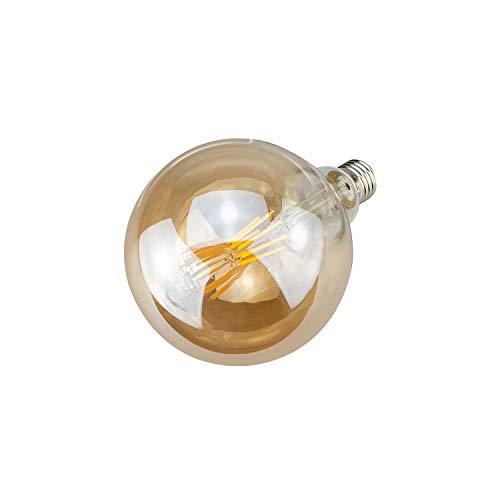 POPP Bombillas LED Vintage Edison G260 Vela, 8W, 2200K, 800Lm Antigua Lampara Bulbo Filamento No Regulable (Pack 2)