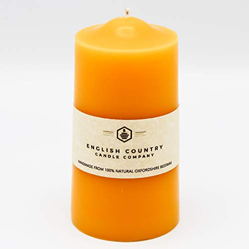 English Country Candle Company | Small Pillar Candle | Handmade in the UK | 100% Natural Beeswax