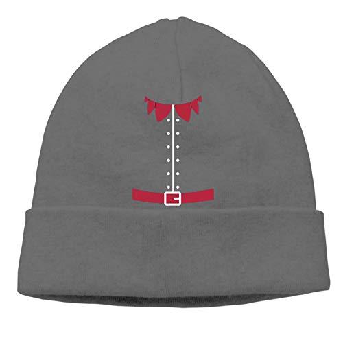 Disfraz de esmoquin de elfos de Navidad unisex gorras gorras de calavera suave Hip Hop cobertura gorra escuela joven vida activa invierno para esquí correr senderismo patinaje hombres y mujeres