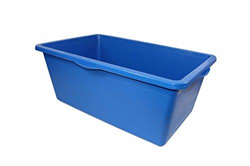 UvV-Profi-Box 90 l Aufbewahrungsbox, Materialbox hochfester Kunststoff - stapelbar ohne Deckel in Vier Farben (blau)