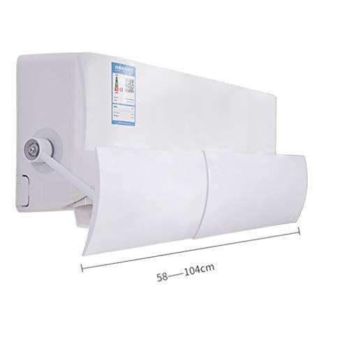 Airconditioning Deflector, vrij om uit te breiden en te contrasteren, voorkom direct bellen, universele stijl, pastdesign, geschikt voor 65 – 113 cm airconditioning, eenvoudige installatie.