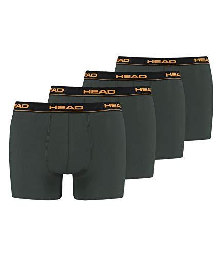 HEAD Herren Boxershorts Cotton Stretch 891003001 4er Pack, Farbe:Grau, Wäschegröße:XL, Menge:4er Pack (2X 2er Pack), Artikel:-862 Dark Shadow