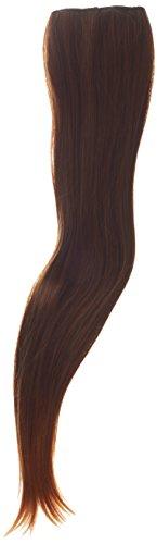 Biya Hair Elements Extensions de cheveux bouclés à clip Thermatt Brun méché n° 2T30 61 cm 100 g