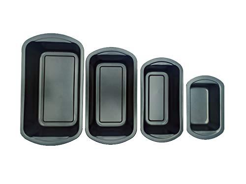 EUROXANTY® Brotbackform | Kuchenform | Backform | Pflaumenform | rechteckige Form | antihaftbeschichtet | Set 18/22/25/29 cm