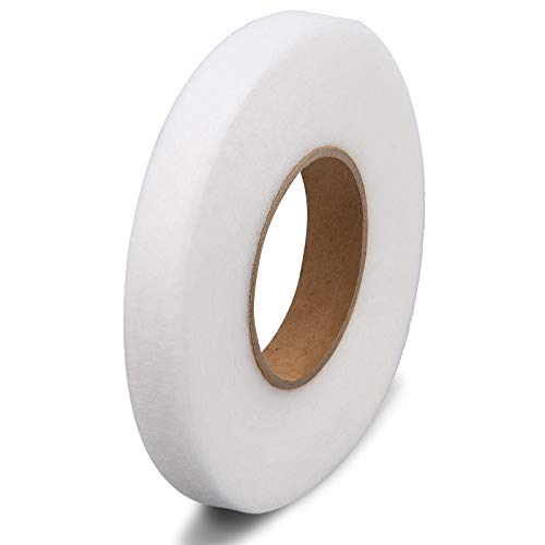 LUTER 15 mm x 64 m Cinta de Fusión de Tela para Planchar, Cinta Adhesiva para Planchar para Dobladillo para Doblar Ropa Rota, Jeans, Tela
