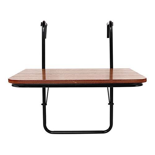 Fuxwlgs Folding Table Folding Poly Rattan Balcony Table Hanging Table Folding Table