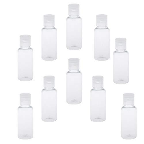 MERIGLARE Envase Cosmético Vacío de 10 Piezas, Frasco de Plástico Líquido para Ungüentos, Champú, Aromaterapia, Aceites Esenciales - 30ml