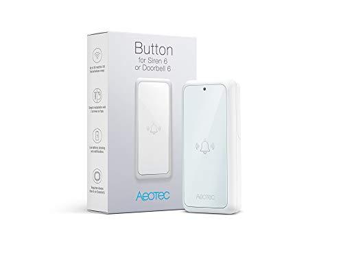 Aeotec Button for Doorbell 6, Smart Home Chime Extension Zubehör, IP55 wasserdicht, batteriebetrieben, 433 MHz