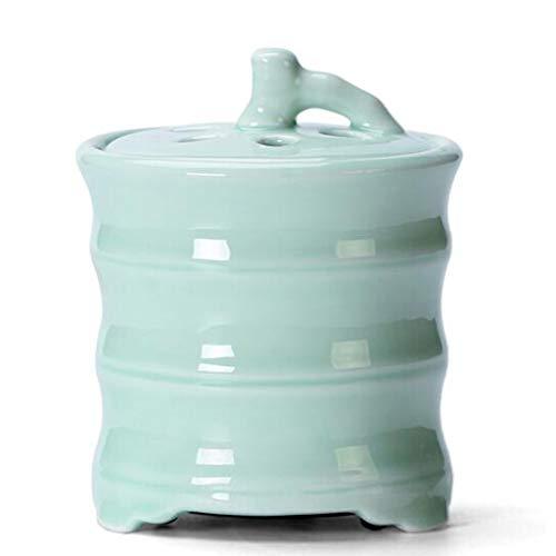 QQAA Aroma Diffuser, Keramik-RäUchergefäß, RegelmäßIge Temperaturanpassung, Brenner FüR äTherische öLe Zur Aromatherapie, Innenanwendung