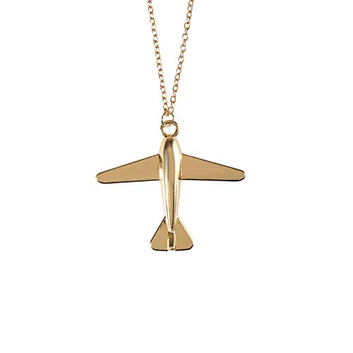 Beautiful Fashion Women Necklaces Gold Airplane Model Necklace Pendant Jewellery Creative and Exquisite Workmanship