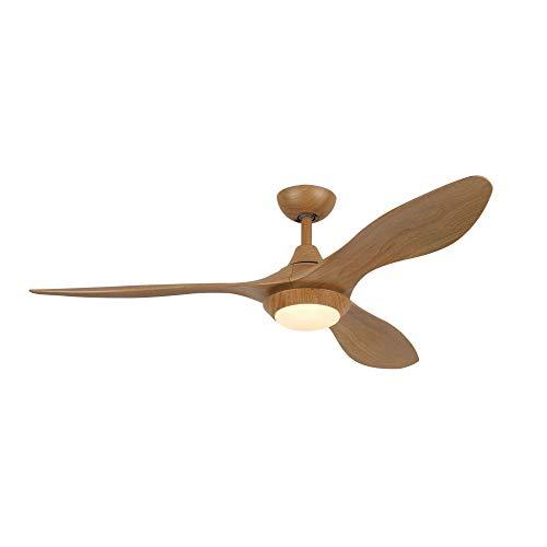 Sulion Lowa Deckenrührer Durchmesser 150 cm mit 3 Blättern in abs Holzausführung 1 LED 15w, Braun