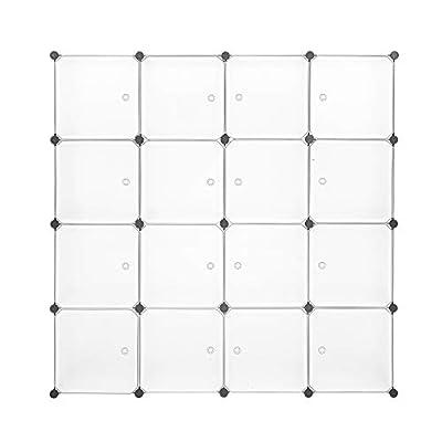 Modular Closet Organizer Plastic Cabinet, 16 Cu...