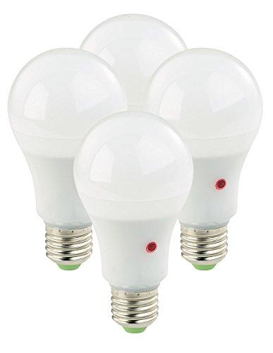 Luminea Lichtsensor: 4er-Set LED-Lampen E27, Dämmerungssensor, 12W, 550 lm, tageslichtweiß (Leuchtmittel Dämmerungssensor)