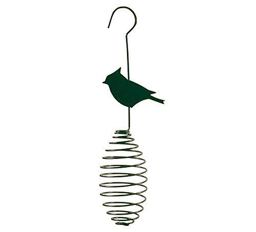 Esschert Design Futterfeder für Meisenknödel Vogelfutter-Spirale für Futterbälle Vogel Metall Grün A