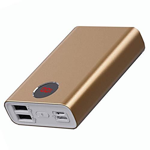 CDBK Power Bank 20000Mah 2 Salidas 2 Entradas Mini Cargador Portátil con Pantalla Digital LED Paquete De Batería Externa Compatible para iPhone, iPad, Samsung, Android, Tableta Y Más, Dorado