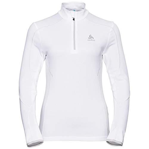 Odlo La Molina Midlayer 1/2 Zip, Vêtements de Sport Femme L Blanc