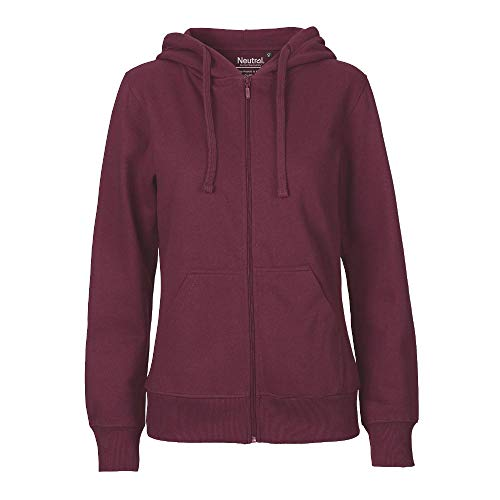 Neutral - Damen Sweatjacke 'Zip Hoodie' / Bordeaux, L