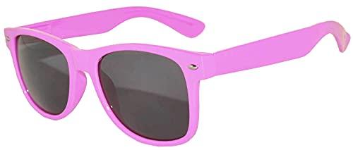 Women's Pink Frame 80s Retro Sunglasses
