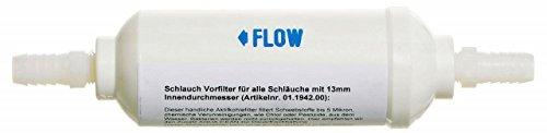 YACHTICON Schlauch Vorfilter - Aktivkohlefilter für Schlauch 13mm