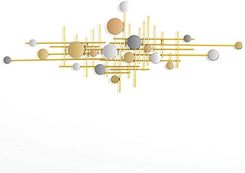 LLC- SUDA Arte de Pared de Metal, Luz de Lujo de Hierro Forjado Resumen decoración de Pared, decoración Creativa de la Pared Colgante Colgante, diseño contemporáneo Imagen de la Pared Escultura Mural
