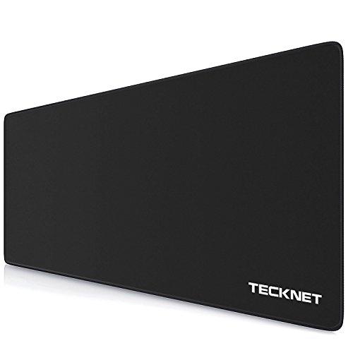 TECKNET XXL Alfombrillas de Ratón - Gaming Mousepad 900x400x3mm, Base de Goma Antideslizante, Superfície con Textura Especial, Compatible con ratón láser y óptico Version Nuevo