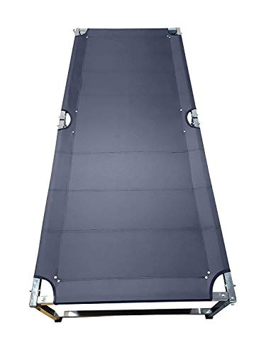 Gokich Portable Single Heavy Duty Foldable Synthetic Bed Frame Khat Cot, Sturdy Steel Bed Frame Space Saving Design- (6 x 2.5 x 1.5 Feet)