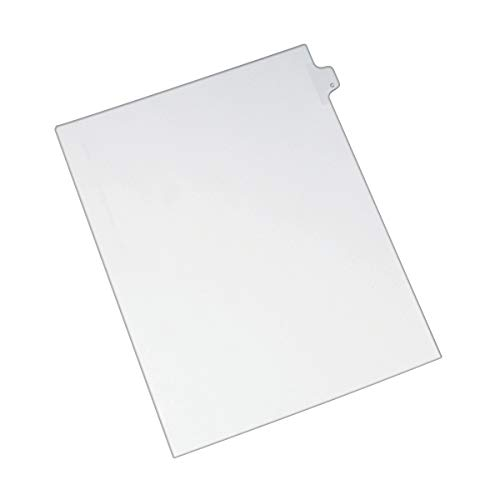 AVERY Individual Legal Exhibit Dividers, Allstate Style, C, Side Tab, 8.5 x 11 inches, Pack of 25 (82165), White