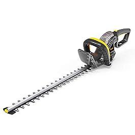 TECCPO Taille-Haies Électrique 600W, Lame 61cm, Capacité de Coupe 24mm, Poignée Rotative à 180° & 5 Positions, Tête Anti-Collision-TAHT01G
