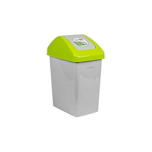 10 L Mülleimer Abfalleimer Schwingdeckel grün Mülltrennung Branq Kunststoff öko