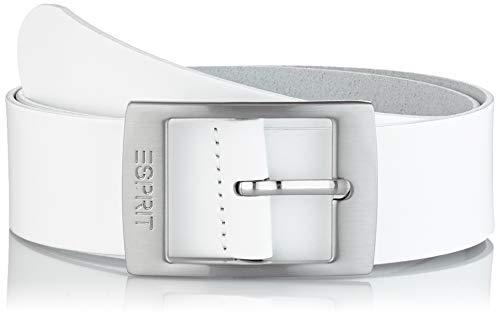 Esprit Accessoires Damen 999EA1S807 Gürtel,, per pack Weiß (WHITE 100), 80|#80|#6621 (Herstellergröße: 80)