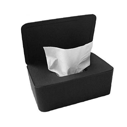 NIDONE Wet Wipes Caja de Almacenamiento en seco de Tejido húmedo Caja de la servilleta Titular dispensador de toallitas húmedas con Tapa para Ministerio del Interior