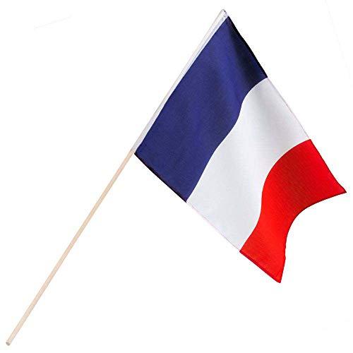 Boland 62038 - Wimpel Frankrijk met staaf meerkleurig