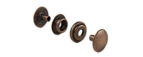 Tandy Leather Line 24 Snaps Antique Copper Plate 10/pk 1263-06