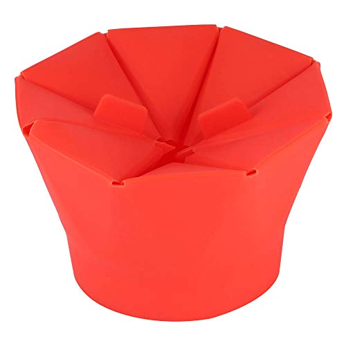 Great Deal! Popcorn bowl, microwave popcorn bowl, household items, folding red for kitchen mom home ...