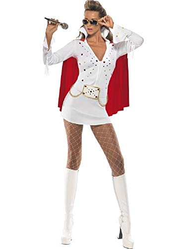 Costume Donna Elvis Presley Las Vegas Bianco-S