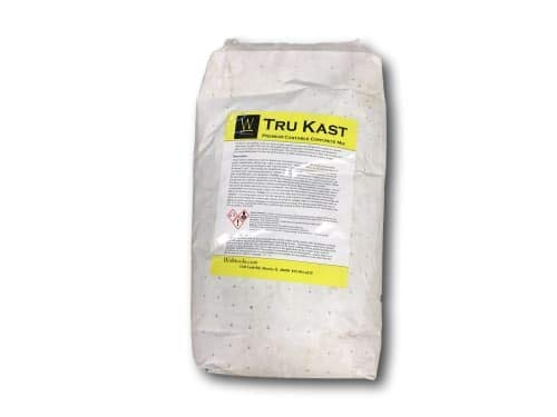 Concrete Countertop Mix by Walttools Tru Kast (Gray) Pre-Blended, All-in-One, High-Strength, Castable
