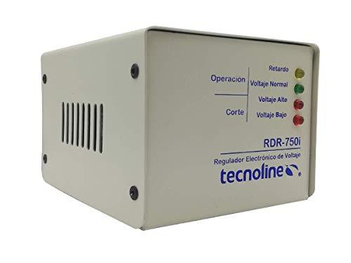 Tecnoline® RDR-750i Regulador de Voltaje, Exclusivo Refrigeración, Lavadoras. 750W, 80J, con Límites y Retardo para Protección