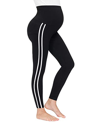 Maacie Damen High Waist Lang Yogahose Sporthose Laufhose Training Tights Umstandsmode Umstandsleggings
