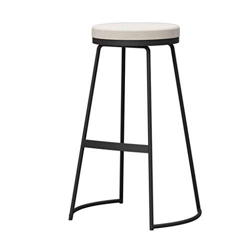 Dining Room Side Chair Barkruk Hoge Kruk barkrukken met zwarte poten Keuken eetkamerstoel Huis Pub Counter Tall Stoelen Receptie Krukken zithoogte 65cm Dining Chair (Color : White)
