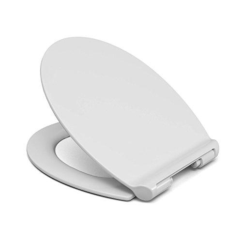 Sanifri 470011442 WC-Sitz Skorpios Slim, weiß, Soft-Close/Take off, extra flach
