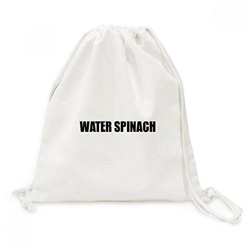 DIYthinker Wasser-Spinat Gemüse Foods Canvas-Rucksack Reisen Shopping Bags