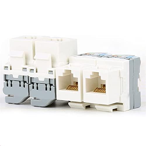 SUOFEILAIMU-PHONE CASE Metal 5pcs Keystone Jack Módulo Conector Conector Acoplador Ethernet Wall Jack No Herramienta de perforación requerida (Bundle : 10PCS, Color : CAT5E)