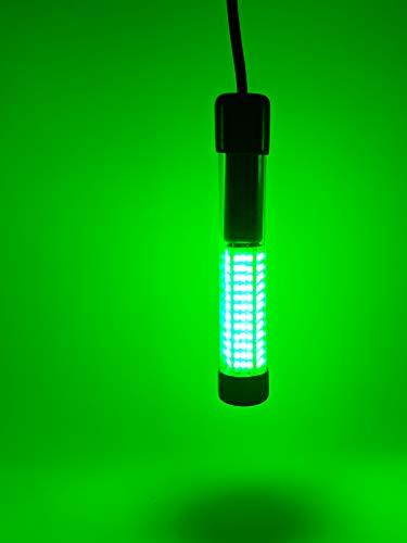LED Night Fishing Light 12V 108 LEDs 10.8W Under Water Night Fishing Light, 1080LM Green Fishing Attracting with 5M Power Cord