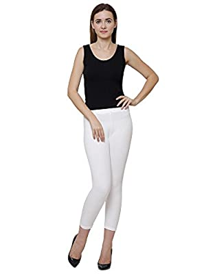 Dyca Women Off White Solid Thermal Lower