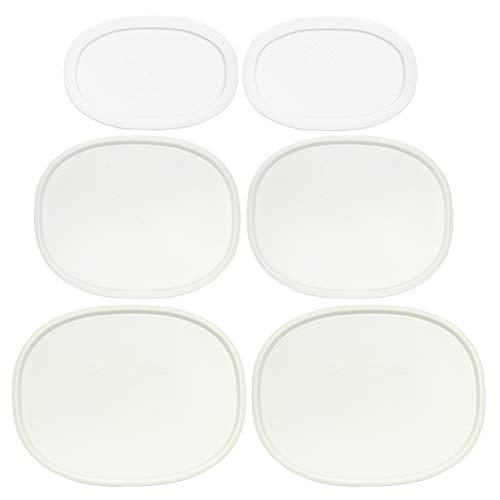 Corningware (2) F-2-PC 2.5 Quart (2) F-12-PC 1.5 Quart (2) F-15-PC 15 Ounce Oval French White Lids