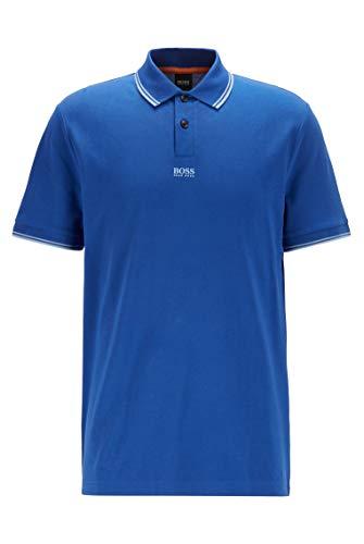BOSS Herren PChup 1 Poloshirt aus Baumwoll-Piqué mit siebenlagigem Logo